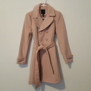 Long Blush Pink Peacoat